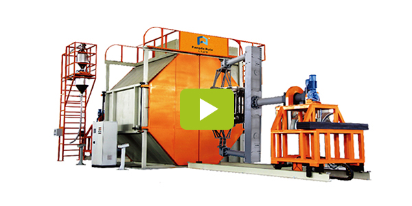 Plastic rotational molding machine