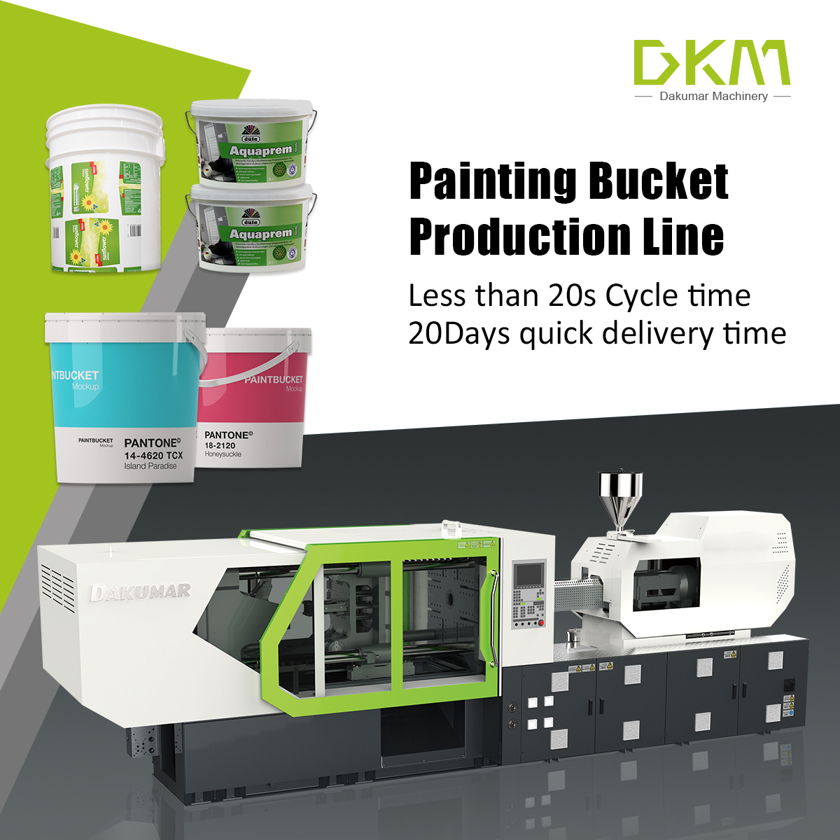 plastic paint bucket production line
