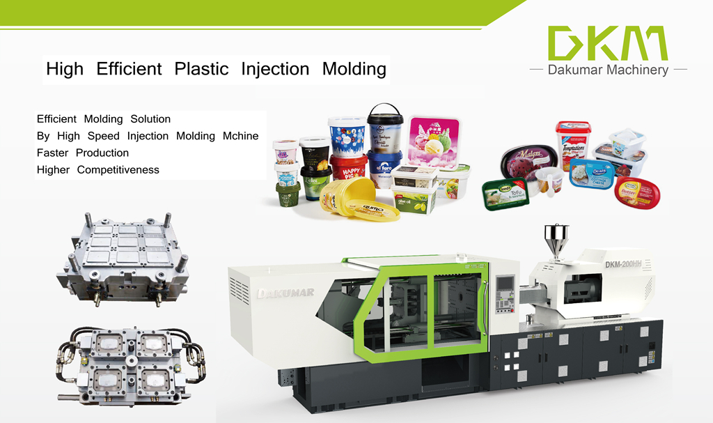 High Speed Injection Molding Machine for Thin-wall Container Molding
