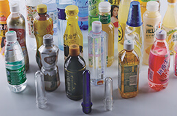 various plastic bottles