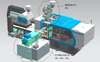 L  double color injection machine