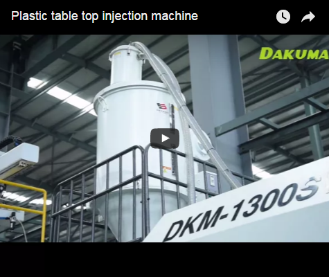 Plastic table top injection machine