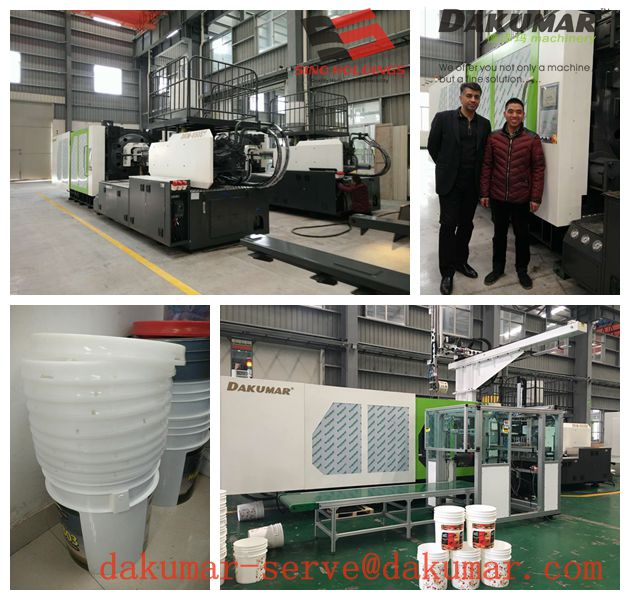 Paint bucket injection molding machine