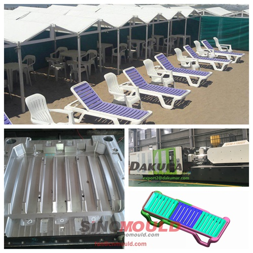 Beach chair injection molding line